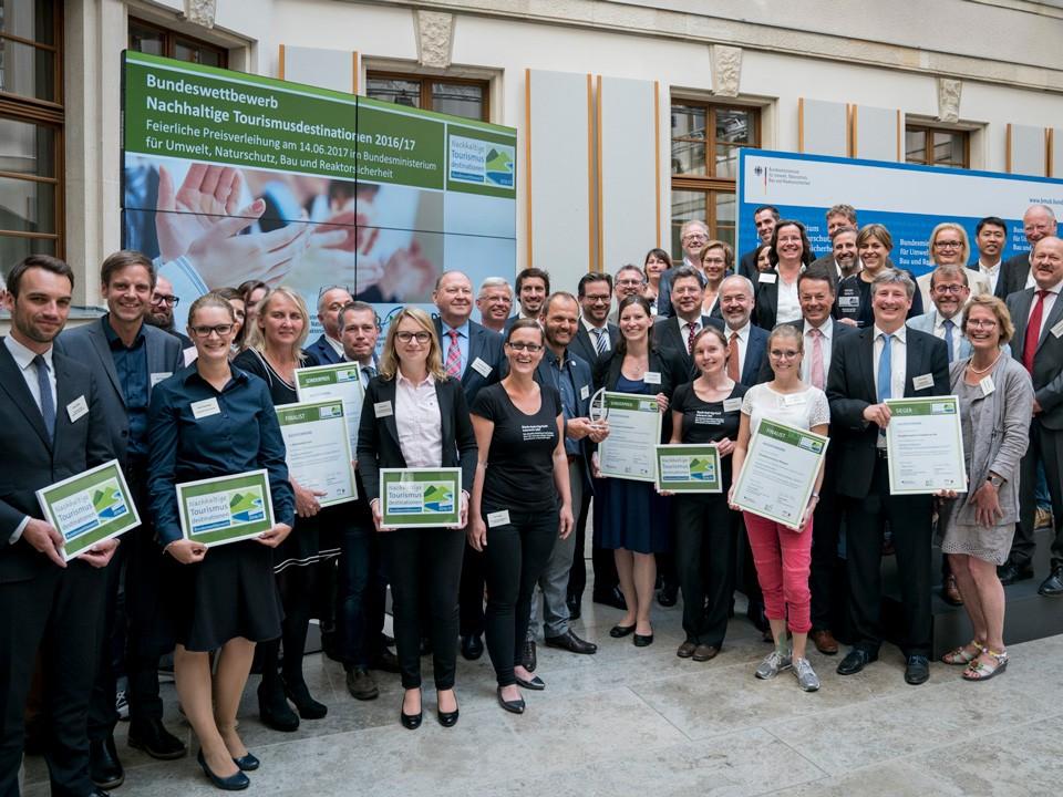 Preisverleihung Bundeswettbewerb Nachhaltige Tourismusdestinationen