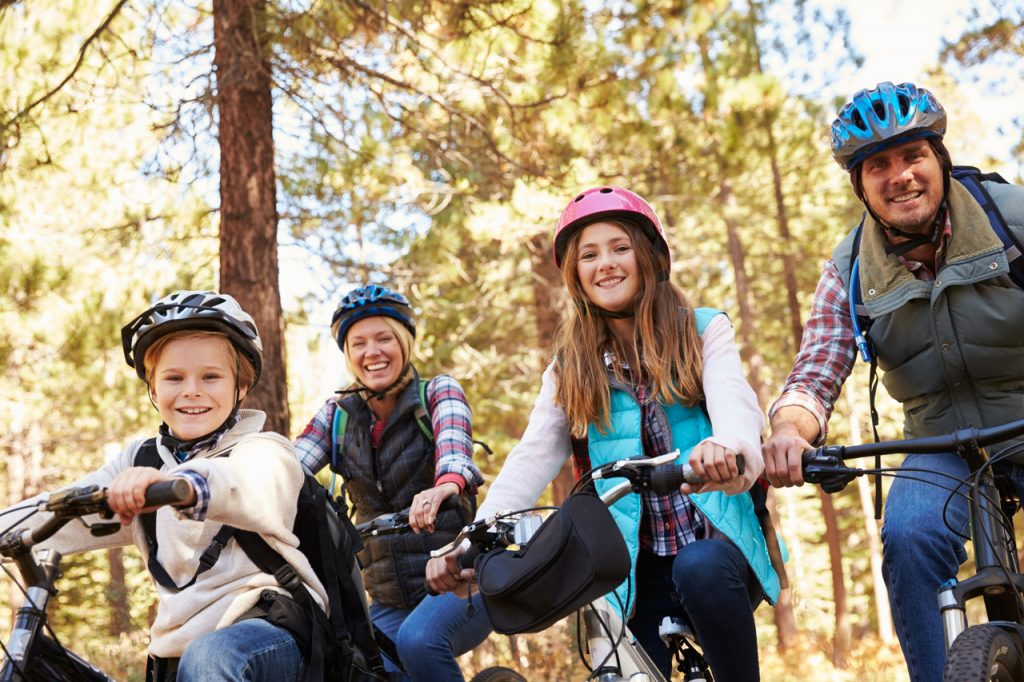 Foto Familie Fahrradtourismus