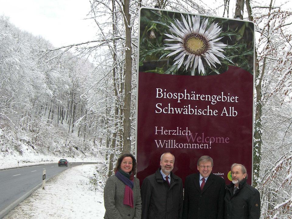 Besucherlenkung Schwäbische Alb Begrüßungstafel