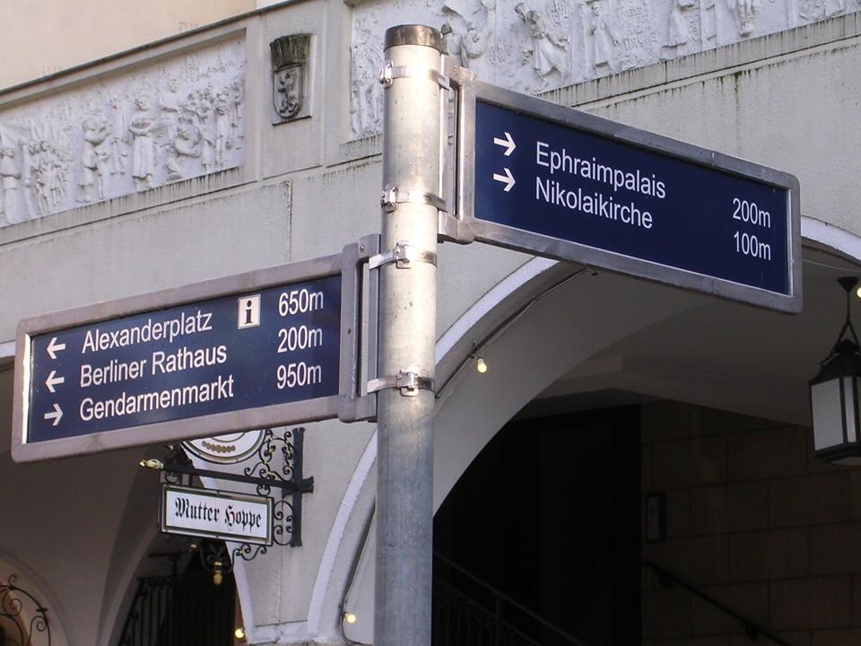 Fußgängerleitsystem Berlin