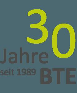 Logo 30 Jahre BTE