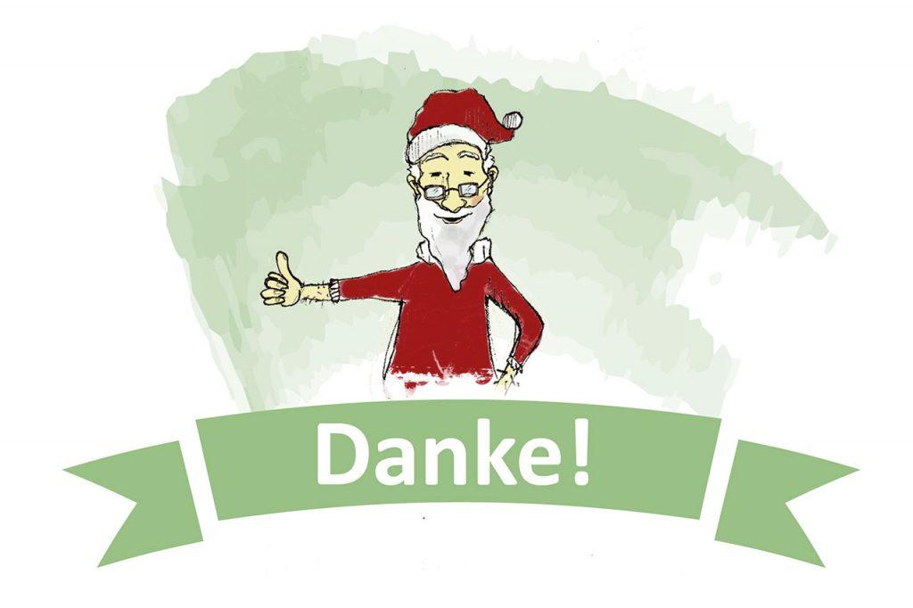 Weihnachtsgrafik Danke